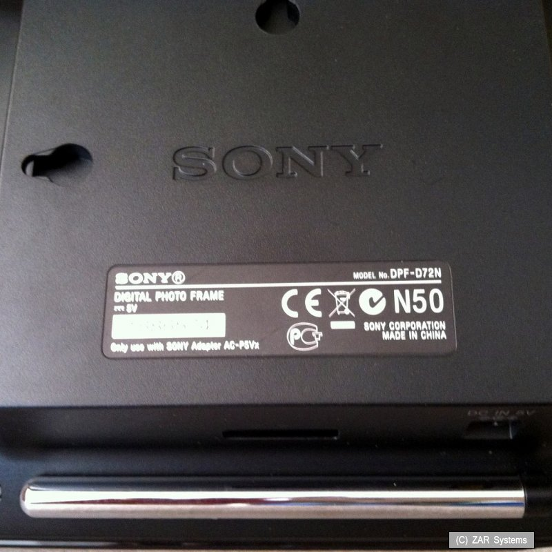 sony d72n digitaler bilderrahmen breitbild lc display 1gb defekt not ok ebay. Black Bedroom Furniture Sets. Home Design Ideas