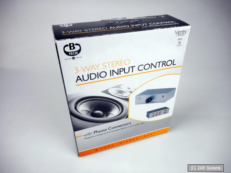 Details zu B-TECH BT31/S 3-Wege Audio Eingangssteuerung (Cinch Stecker) Umschalter, Silber