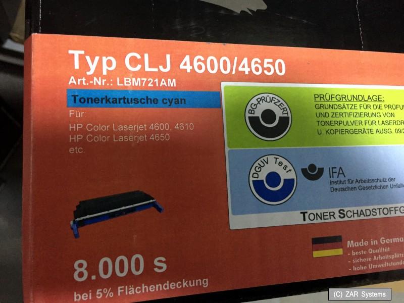 Europcart Toner SCHWARZ für HP Color LaserJet 4650-HDN 4600-DTN 4610-N 4600-HDN
