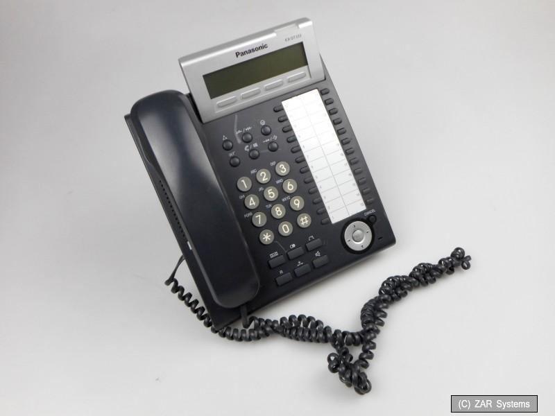 Panasonic KX-DT333 NE-B Digitales Systemtelefon 3-zeiliges Display, 24 frei programmierbare Funktionstasten, Headsetanschluss schwarz